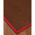 Kerrick Border Hand-Woven Brown/Red Area Rug Rug Size: Rectangle 9' x 12', Rug Pad Included: Yes