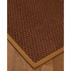 Kerrick Border Hand-Woven Brown/Sienna Area Rug Rug Pad Included: No, Rug Size: Runner 2'6