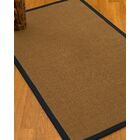 Huntwood Border Hand-Woven Brown/Midnight Blue Area Rug Rug Size: Rectangle 5' x 8', Rug Pad Included: Yes