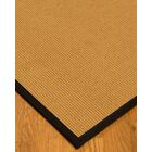 Vannatter Border Hand-Woven Beige/Black Area Rug Rug Pad Included: No, Rug Size: Runner 2'6