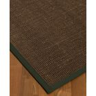 Kersh Border Hand-Woven Brown/Green Area Rug Rug Size: Rectangle 4' x 6', Rug Pad Included: Yes