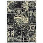 Hedden Tribal Black/Ivory Area Rug Rug Size: Rectangle 6'7