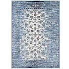 Crader Distressed Floral Lattice Contemporary Morrocan Blue/Ivory Area Rug Rug Size: 8' x 10'