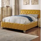 Kingsview Upholstered Platform Bed Size: California King, Color: Mustard