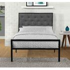 Hartin Upholstered Platform Bed Color: Gray, Size: Twin