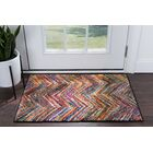 Elysee Contemporary Purple/Orange Area Rug Rug Size: Rectangle 4' x 6'