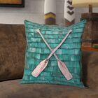 Brushton Rustic Oars Square Pillow Cover Size: 16