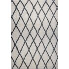 Fancy Trellis Gray/Black Area Rug Rug Size: Rectangle 7'10