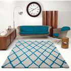 Fancy Trellis Gray/Turquoise Area Rug Rug Size: Rectangle 6'5
