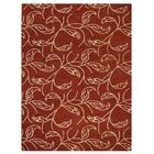 Campas Floral Hand-Tufted Wool Red/Beige Area Rug Rug Size: Rectangle 5' x 8'