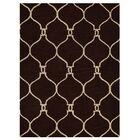 Creasey Geometric Hand-Tufted Wool Brown/Beige Area Rug Rug Size: Rectangle 5' x 8'