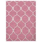 Creamer Geometric Hand-Tufted Wool Light Red/Beige Area Rug Rug Size: Rectangle 5' x 8'