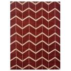 Freida Hand-Knotted Wool Red/Beige Area Rug Rug Size: Rectangle 8' x 10'