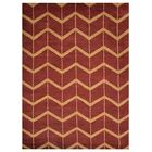 Freida Geometric Hand-Knotted Wool Red/Gold Area Rug Rug Size: Rectangle 9' x 12'