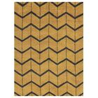 Johns Hand-Knotted Wool Gold/Charcoal Area Rug Rug Size: Rectangle 5' x 8'