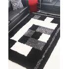 Henricks Hand-Tufted Black/White Area Rug Rug Size: Rectangle 4' x 6'