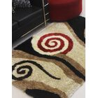 Henricks Hand-Tufted Black/Brown Area Rug Rug Size: Rectangle 8' x 10'