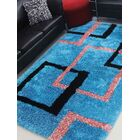 Henricks Hand-Tufted Blue Area Rug Rug Size: Rectangle 6' x 9'