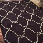 Minor Hand-Tufted Wool Brown/Ivory Area Rug Rug Size: Square 6'