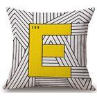 Gerner Big E Linen Throw Pillow