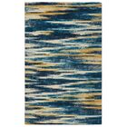 Victorine Slash Modern Bohemian Blue Area Rug Rug Size: Rectangle 7'6