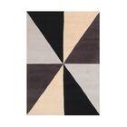 Kinner Geometric Hand-Tufted Wool Beige/Black/Brown Area Rug