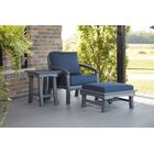 Clabaugh Loveseat with Cushions Frame Color: Slate Gray, Cushion Color: Spectrum Indigo