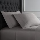 Crossman Hemstitch 600 Thread Count 100% Cotton Sheet Set Size: Twin, Color: Charcoal Gray