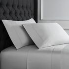 Crossman Hemstitch 600 Thread Count 100% Cotton Sheet Set Size: Queen, Color: Gray