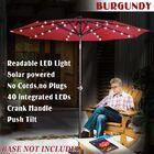 Kaczmarek 9' Market Umbrella Fabric Color: Burgundy