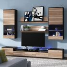 Maulik Entertainment Center Color: Wenge/Nut Baltimor