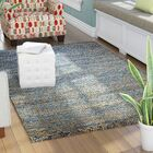 Erving Hand-Woven Natural Blue Area Rug Rug Size: 9' x 12'