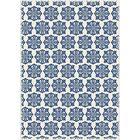 Classen Modern European Design Blue/White Indoor/Outdoor Area Rug Rug Size: Rectangle 4' x 6'