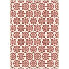 Cotner Modern European Design Red/White Indoor/Outdoor Area Rug Rug Size: Rectangle 4' x 6'