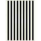 Cronk Strips Design Black/White Indoor/Outdoor Area Rug Rug Size: Rectangle 4' x 6'