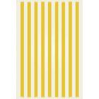Crose Strips of European Design Yellow/White Indoor/Outdoor Area Rug Rug Size: Rectangle 4' x 6'