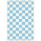 Fludder English Checker Light Blue/White Indoor/Outdoor Area Rug Size: Rectangle 4' x 6'