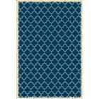 Wheatland Quaterfoil Design Blue Indoor/Outdoor Area Rug Rug Size: Rectangle 5' x 7'