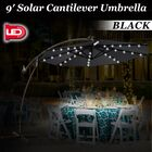 Flavin 9' Patio Cantilever Umbrella Fabric Color: Black