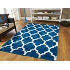Daisy Wool Blue Indoor/Outdoor Area Rug Rug Size: Rectangle 8' x 11'