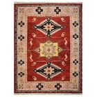 Corrin Hand-Woven Red/Beige Area Rug Rug Size: Rectangle6' x 9'