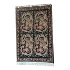 One-of-a-Kind Eraman Hand-Knotted Wool Black/Green Area Rug