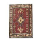One-of-a-Kind Eramana Hand-Knotted Wool Red/Blue Area Rug