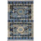 Clairsville Hand-Woven Wool Light Blue Area Rug