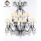 Maclean 16-Light Shaded Chandelier Shade Color: White