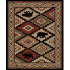 Perri Lodge Bear Beige/Black Area Rug Rug Size: Rectangle 5'3
