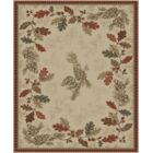 Perryville Lodge Oak Leaves Beige/Red Area Rug Rug Size: Rectangle 5'3
