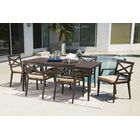 Brooklet 7 Piece Sunbrella Dining Set with Cushions