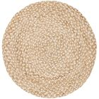 Salerna Hand-Woven Natural/Ivory Area Rug Rug Size: Round 5'