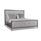Korhonen Button Tufted Upholstered Panel Bed Color: Gray, Size: King